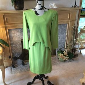 Chartreuse Green Silk Suit by Mark Heister
